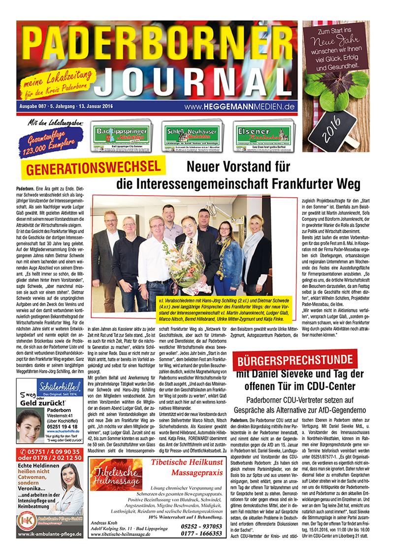 Paderborner Journal 87 vom 13.01.2016