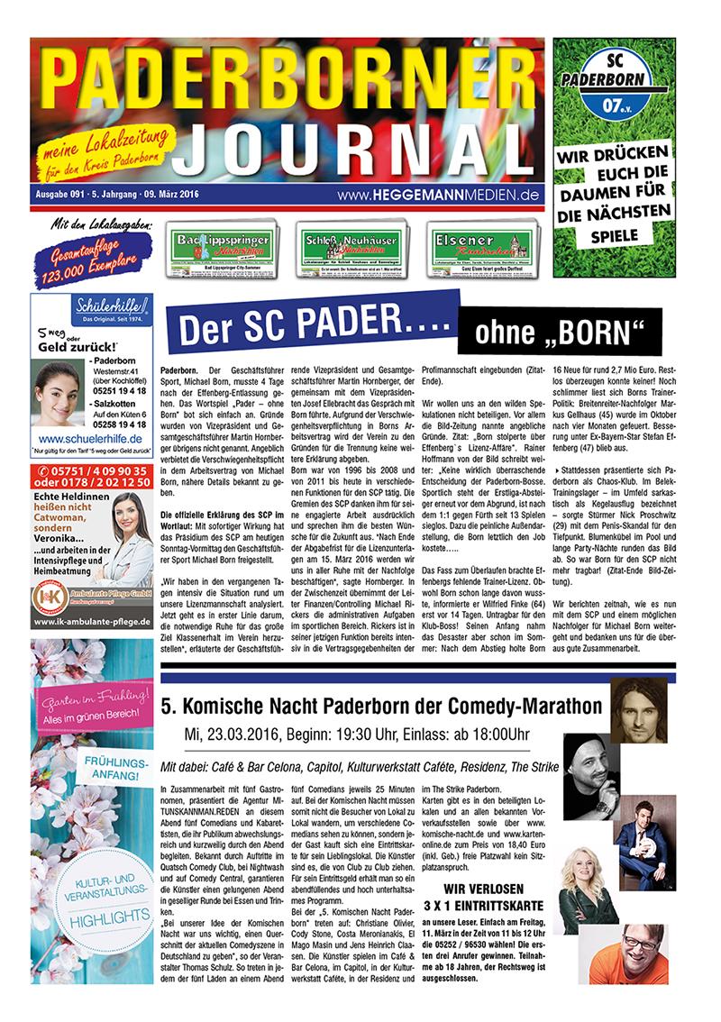 Paderborner Journal 91 vom 09.03.2016