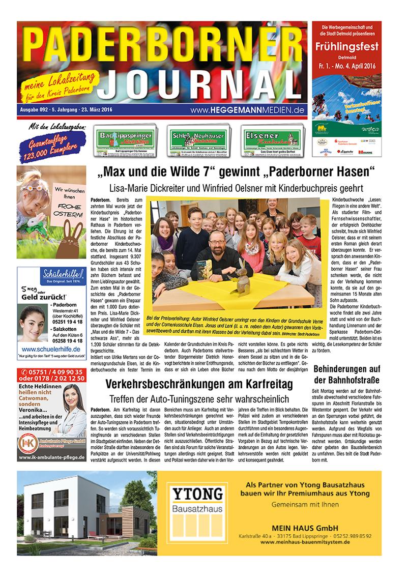 Paderborner Journal 92 vom 23.03.2016