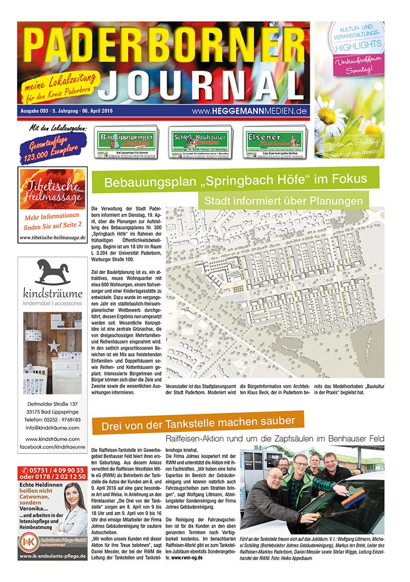 Paderborner Journal 93 vom 06.04.2016