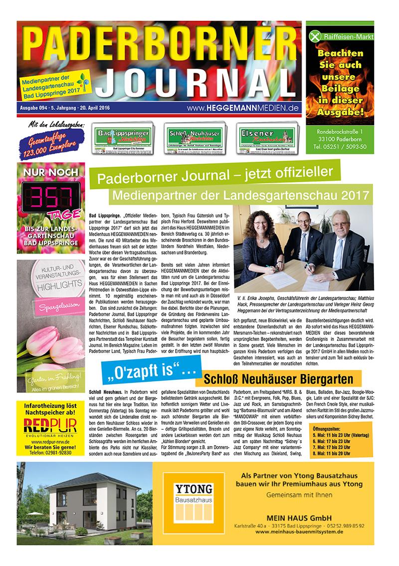 Paderborner Journal 94 vom 20.04.2016