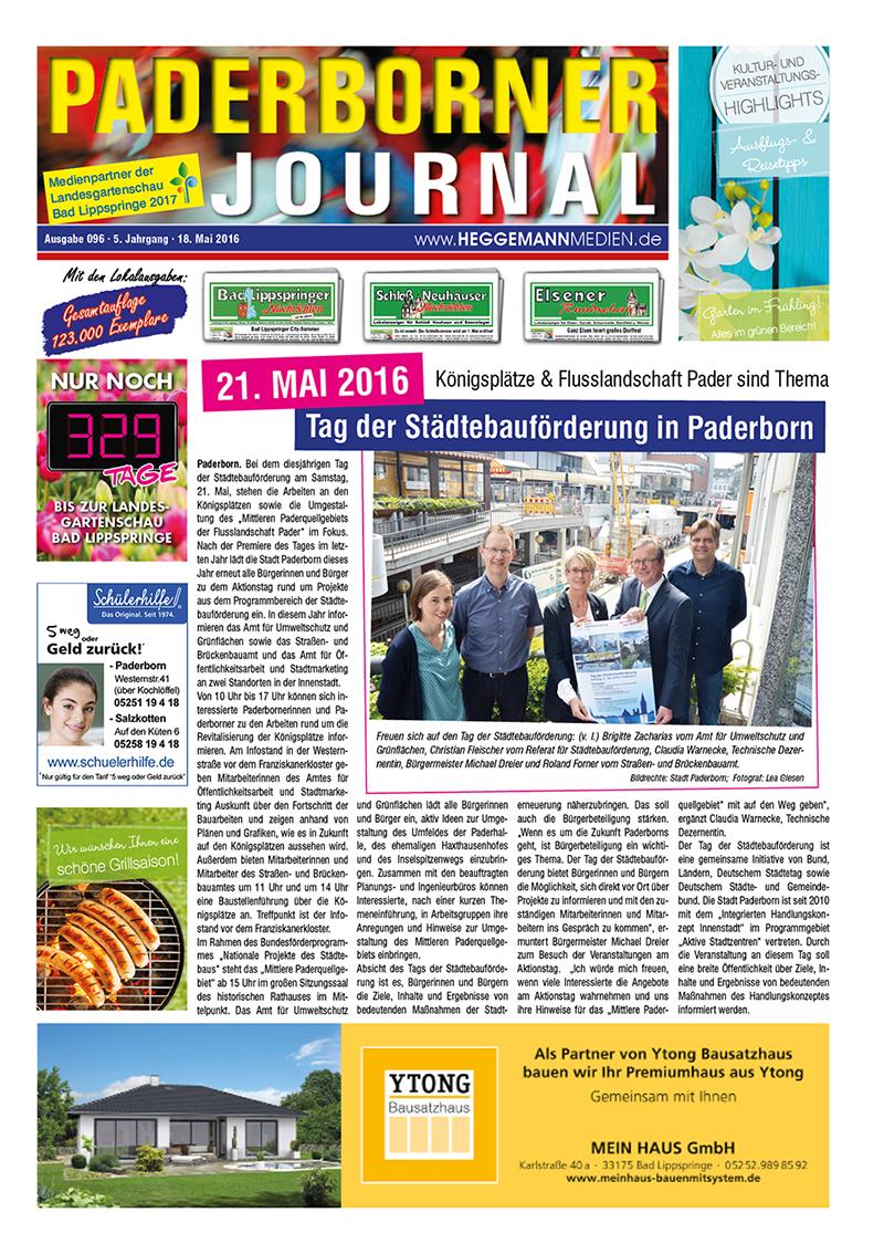 Paderborner Journal 96 vom 18.05.2016