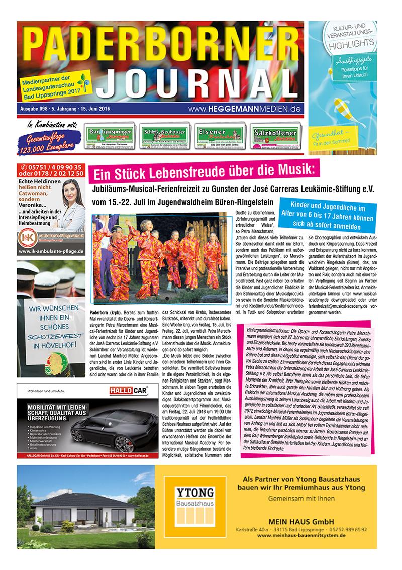 Paderborner Journal 98 vom 15.06.2016