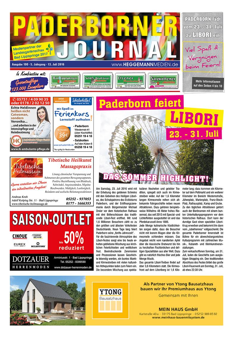 Paderborner Journal 100 vom 13.07.2016