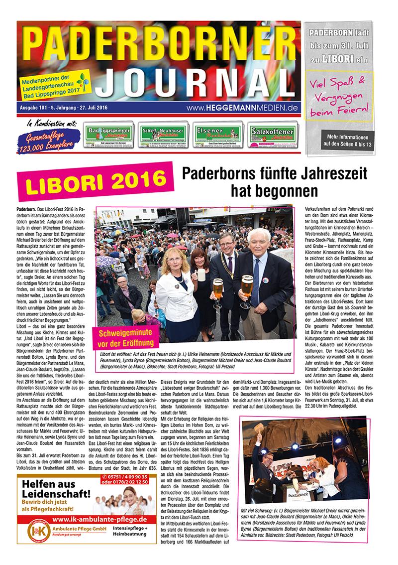 Paderborner Journal 101 vom 27.07.2016