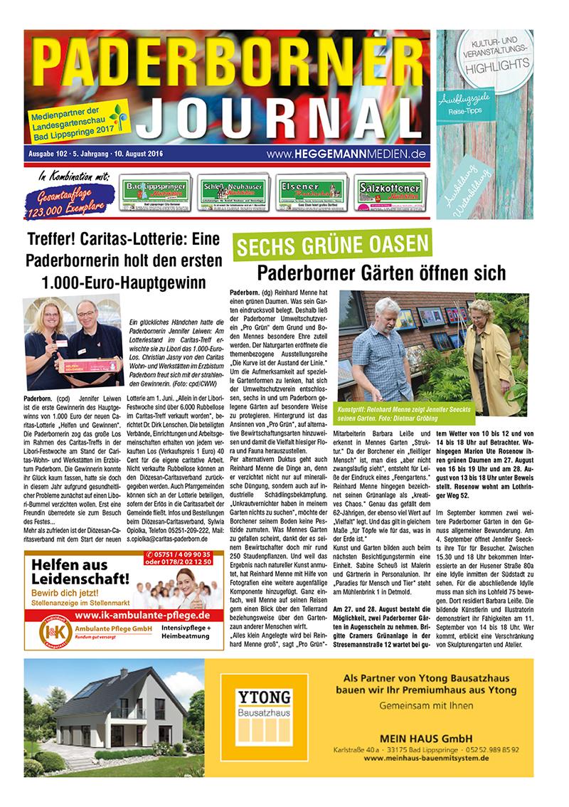Paderborner Journal 102 vom 10.08.2016