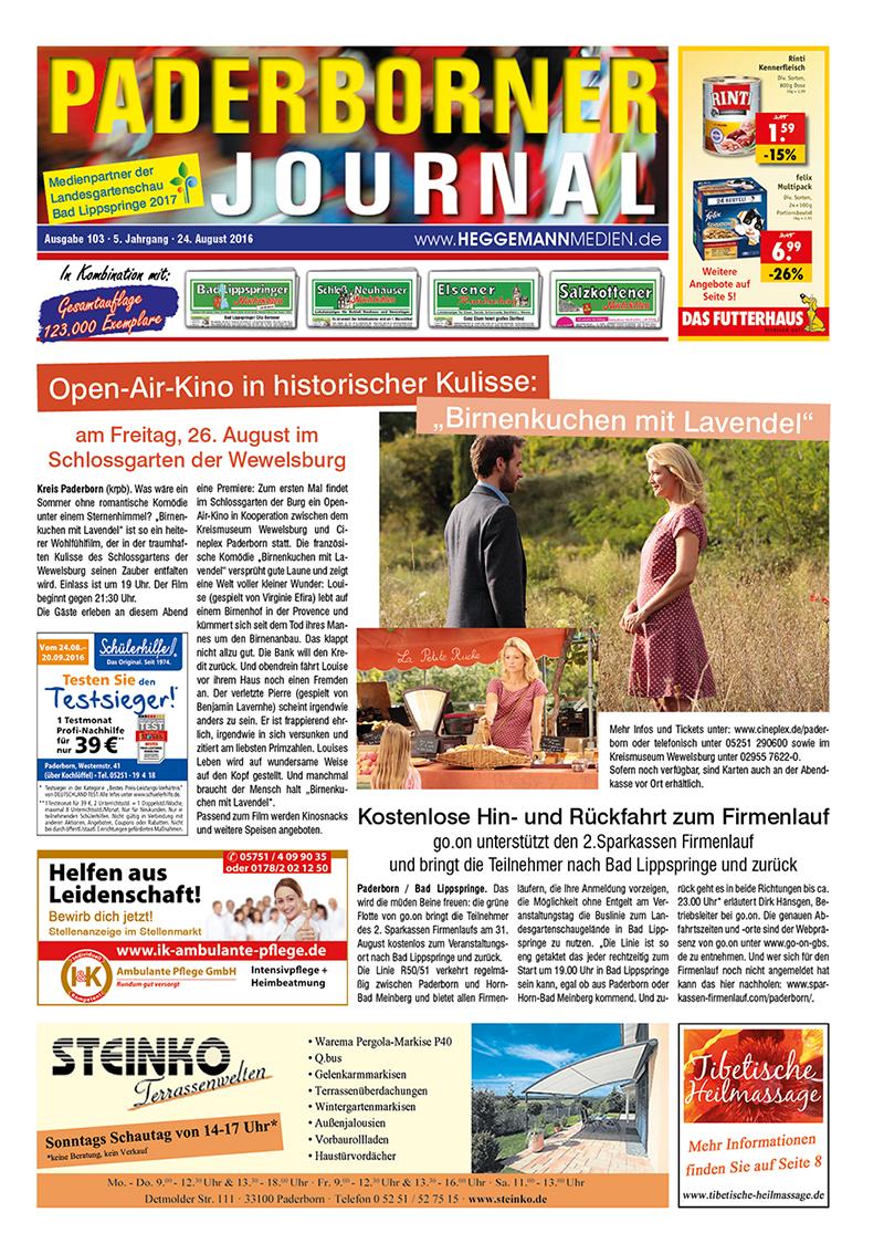 Paderborner Journal 103 vom 24.08.2016