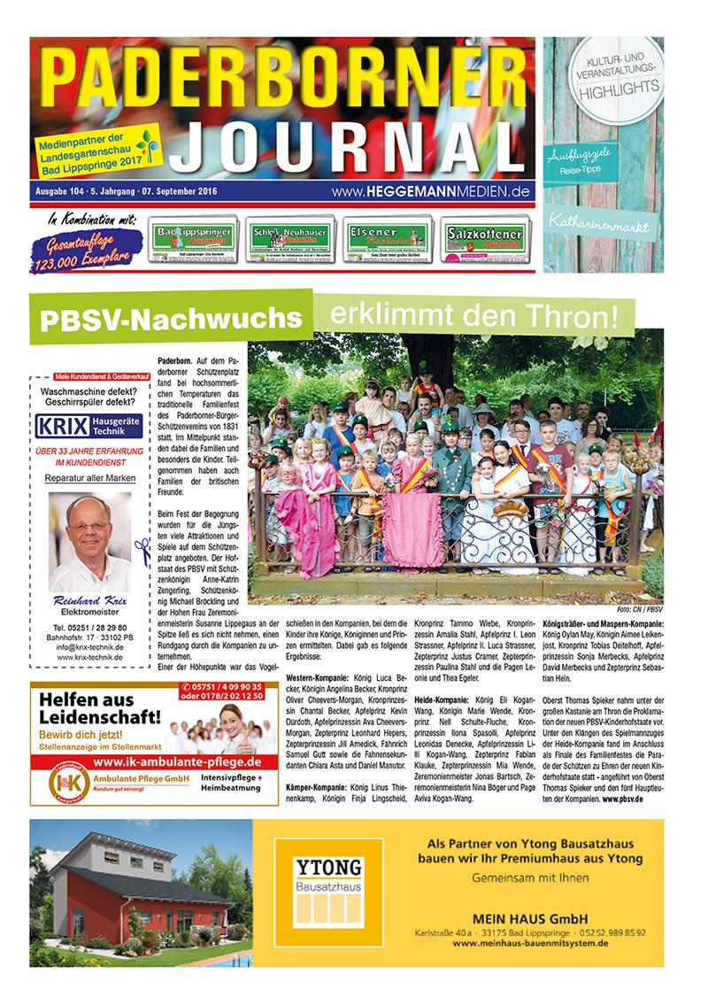 Paderborner Journal 104 vom 07.09.2016