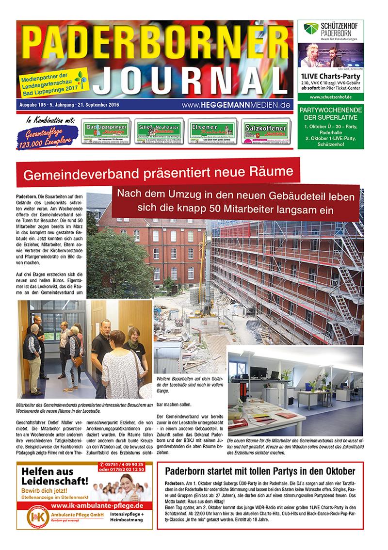 Paderborner Journal 105 vom 21.09.2016