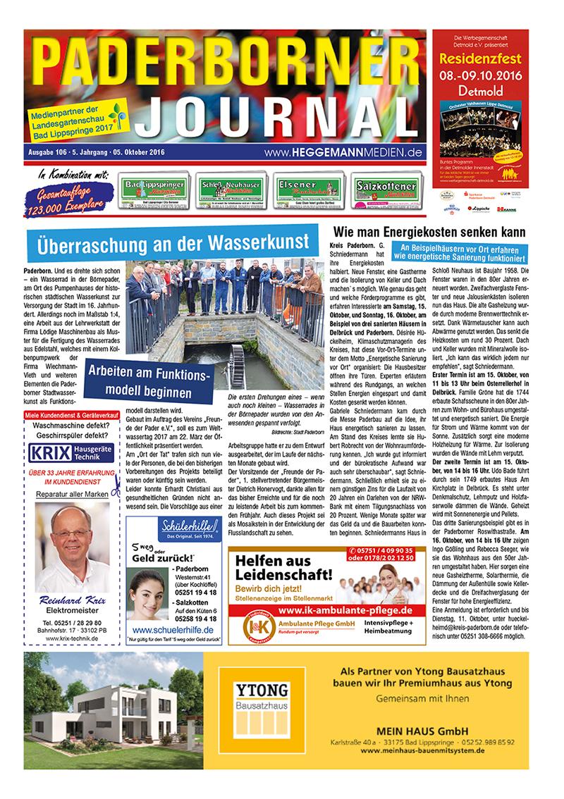 Paderborner Journal 106 vom 05.10.2016