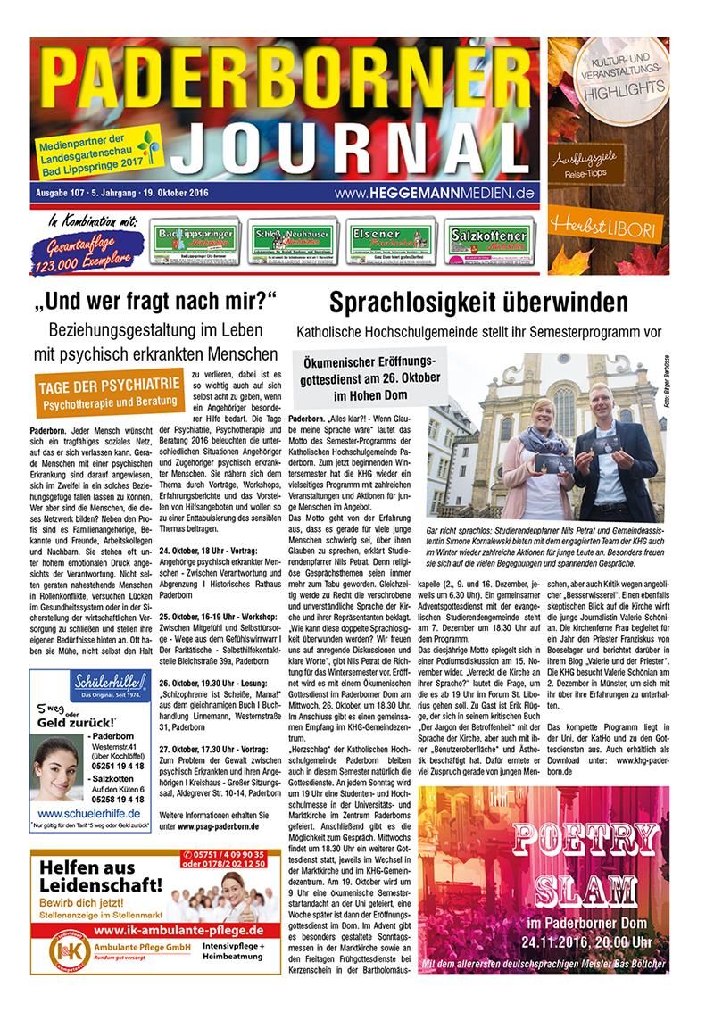 Paderborner Journal 107 vom 19.10.2016