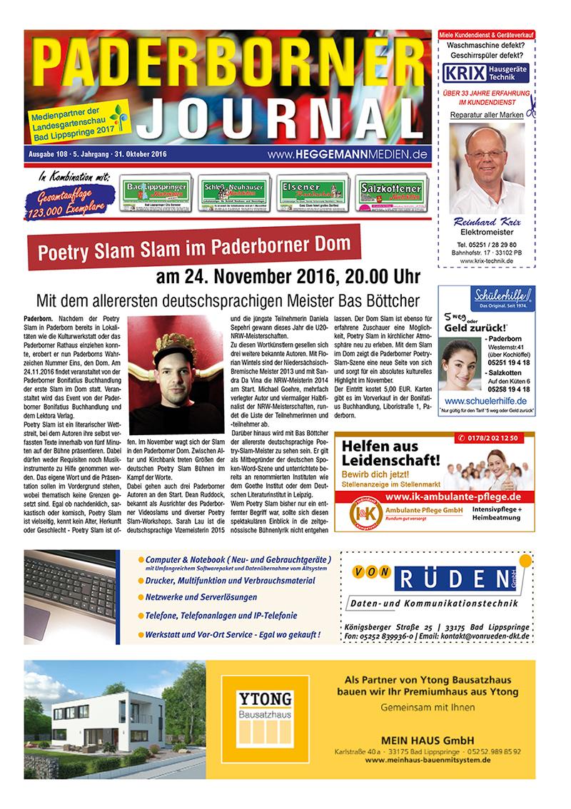 Paderborner Journal 108 vom 31.10.2016