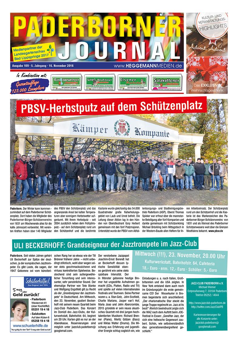 Paderborner Journal 109 vom 16.11.2016