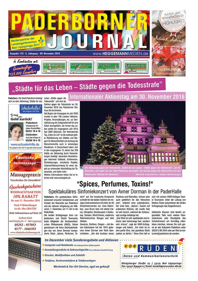 Paderborner Journal 110 vom 30.11.2016