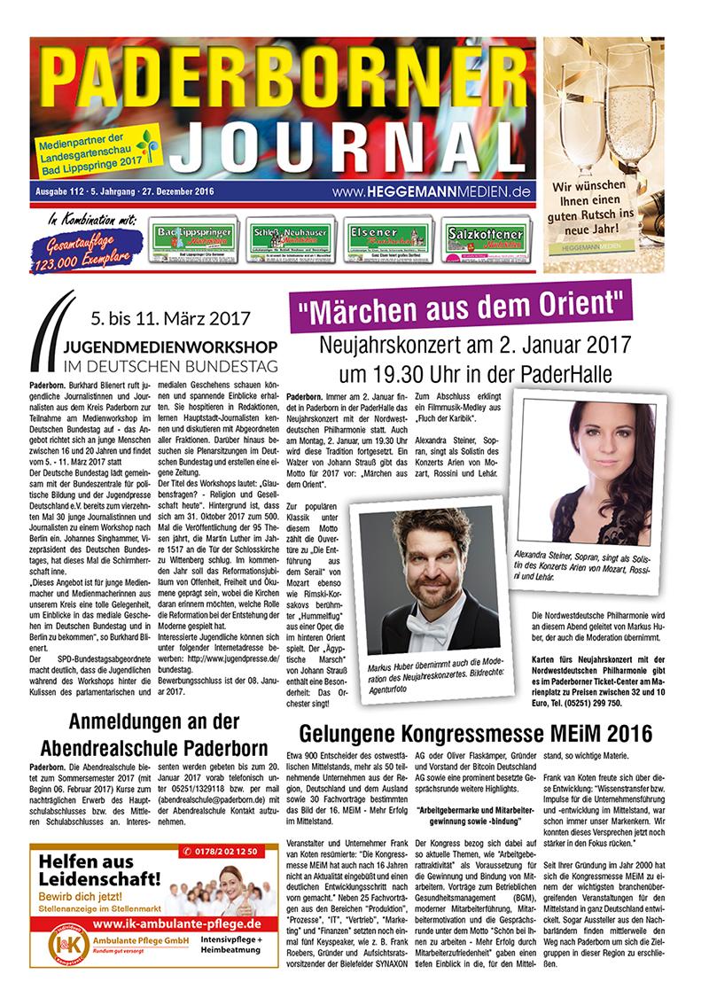 Paderborner Journal 112 vom 27.12.2016