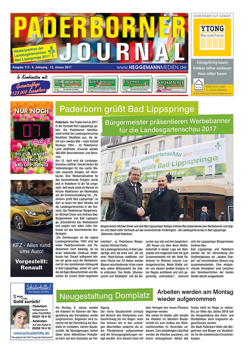 Paderborner Journal 113 vom 12.01.2017