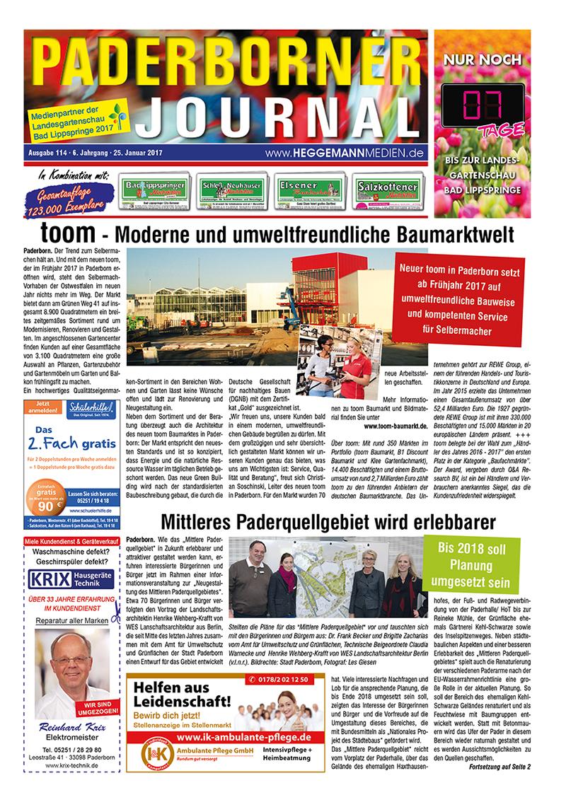 Paderborner Journal 114 vom 25.01.2017