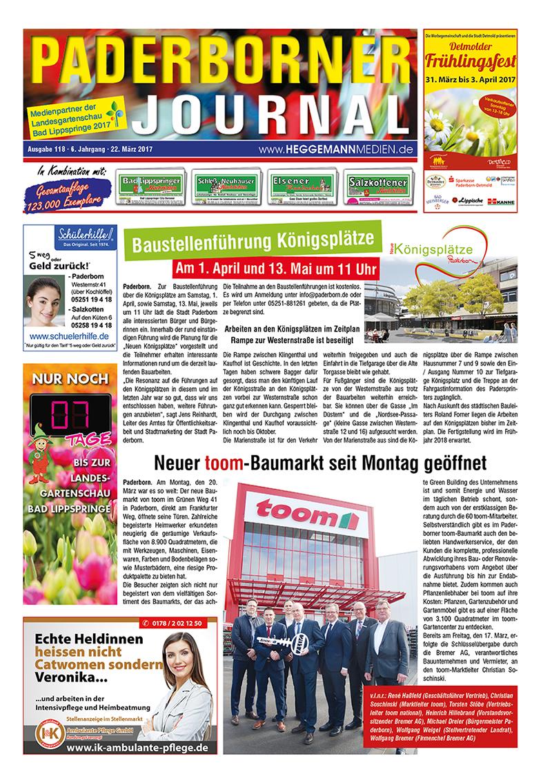 Paderborner Journal 118 vom 22.03.2017