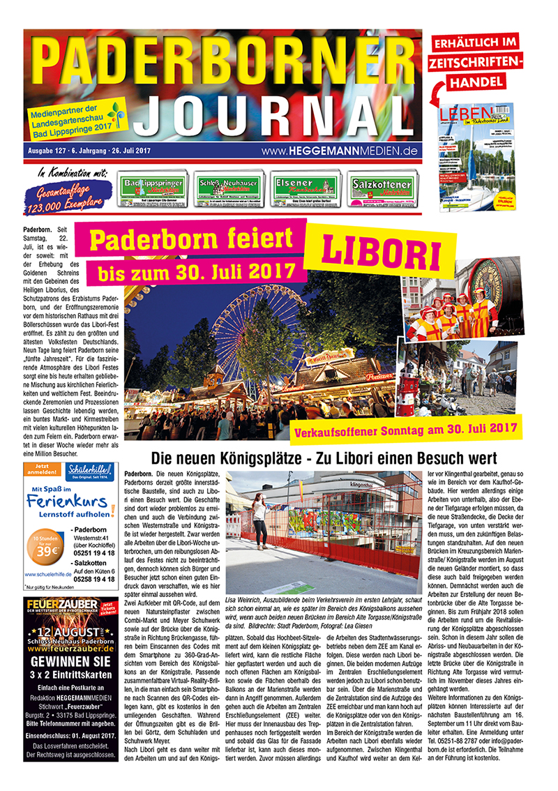 Paderborner Journal 127 vom 26.07.2017
