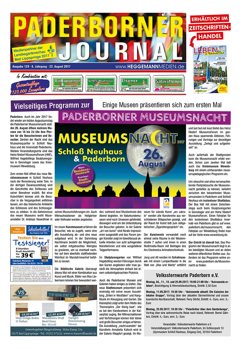 Paderborner Journal 129 vom 23.08.2017