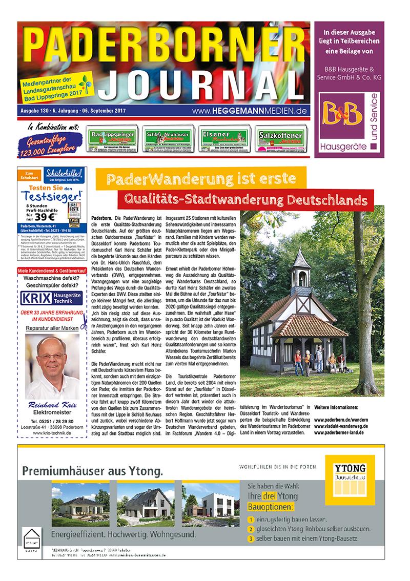 Paderborner Journal 130 vom 06.09.2017