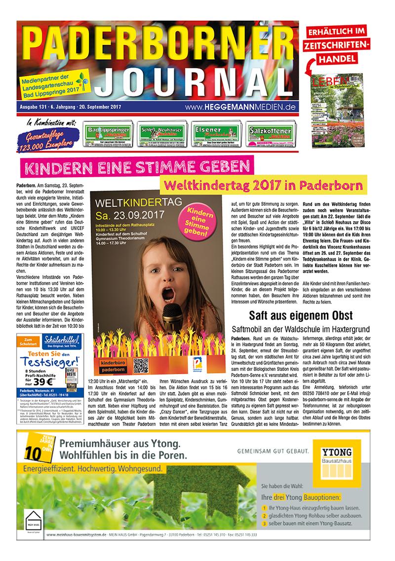 Paderborner Journal 131 vom 20.09.2017