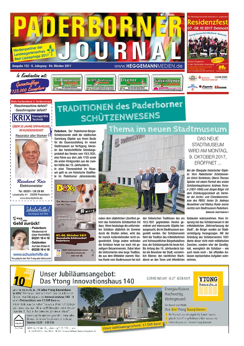 Paderborner Journal 132 vom 04.10.2017
