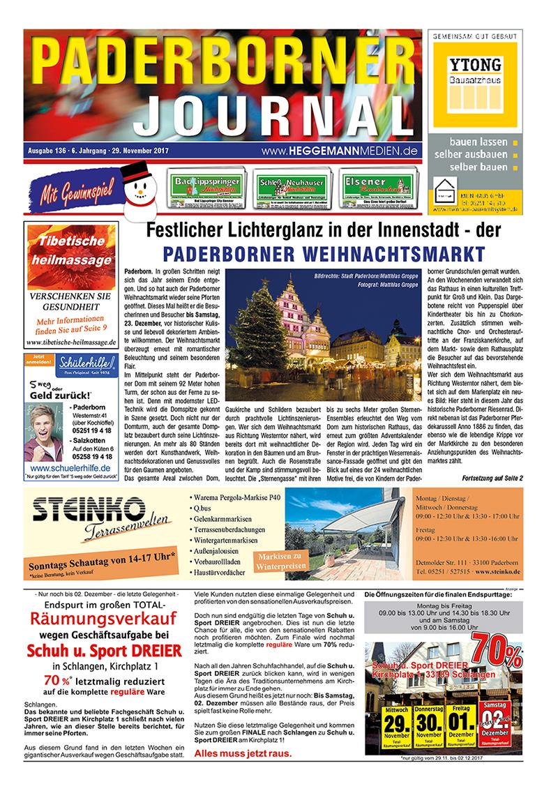Paderborner Journal 136 vom 29.11.2017