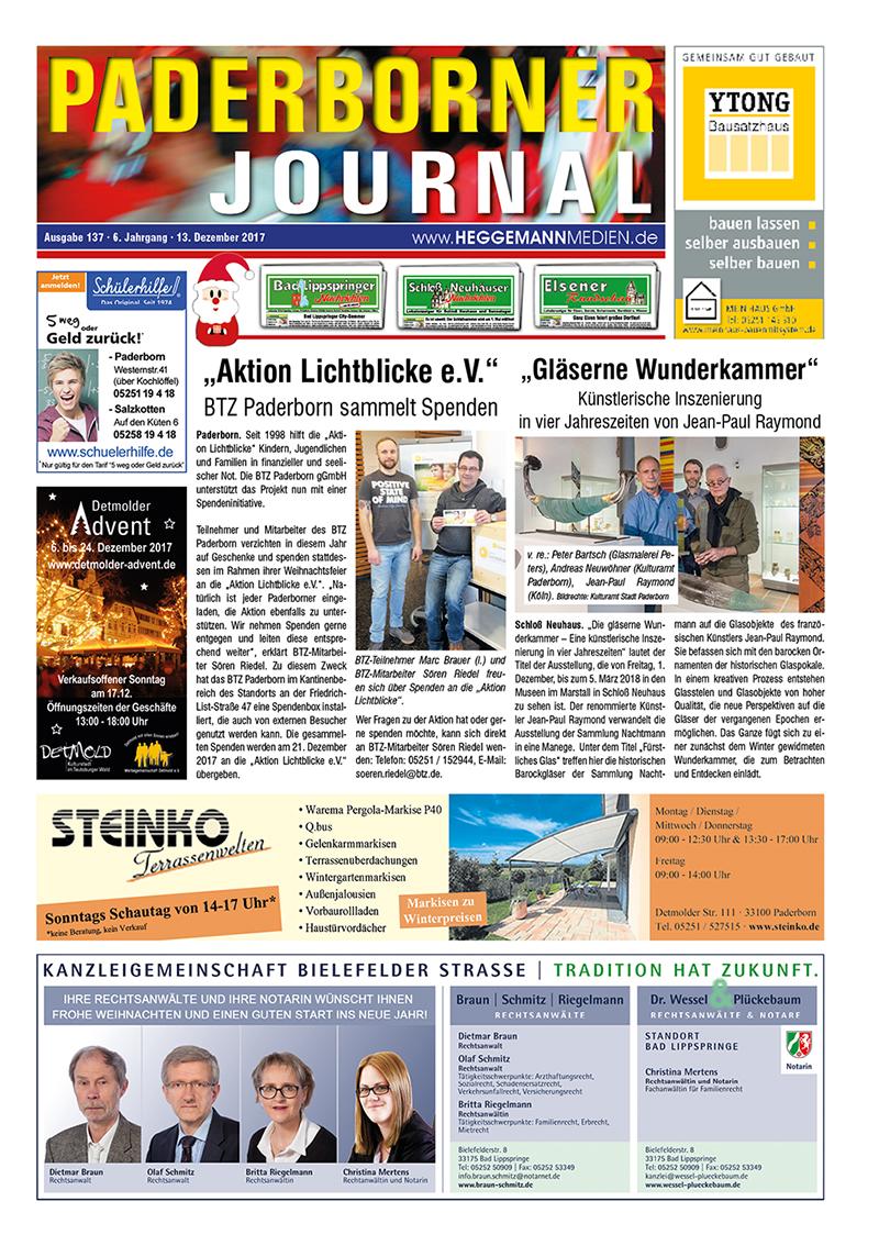 Paderborner Journal 137 vom 13.12.2017