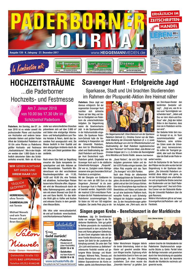 Paderborner Journal 138 vom 27.12.2017