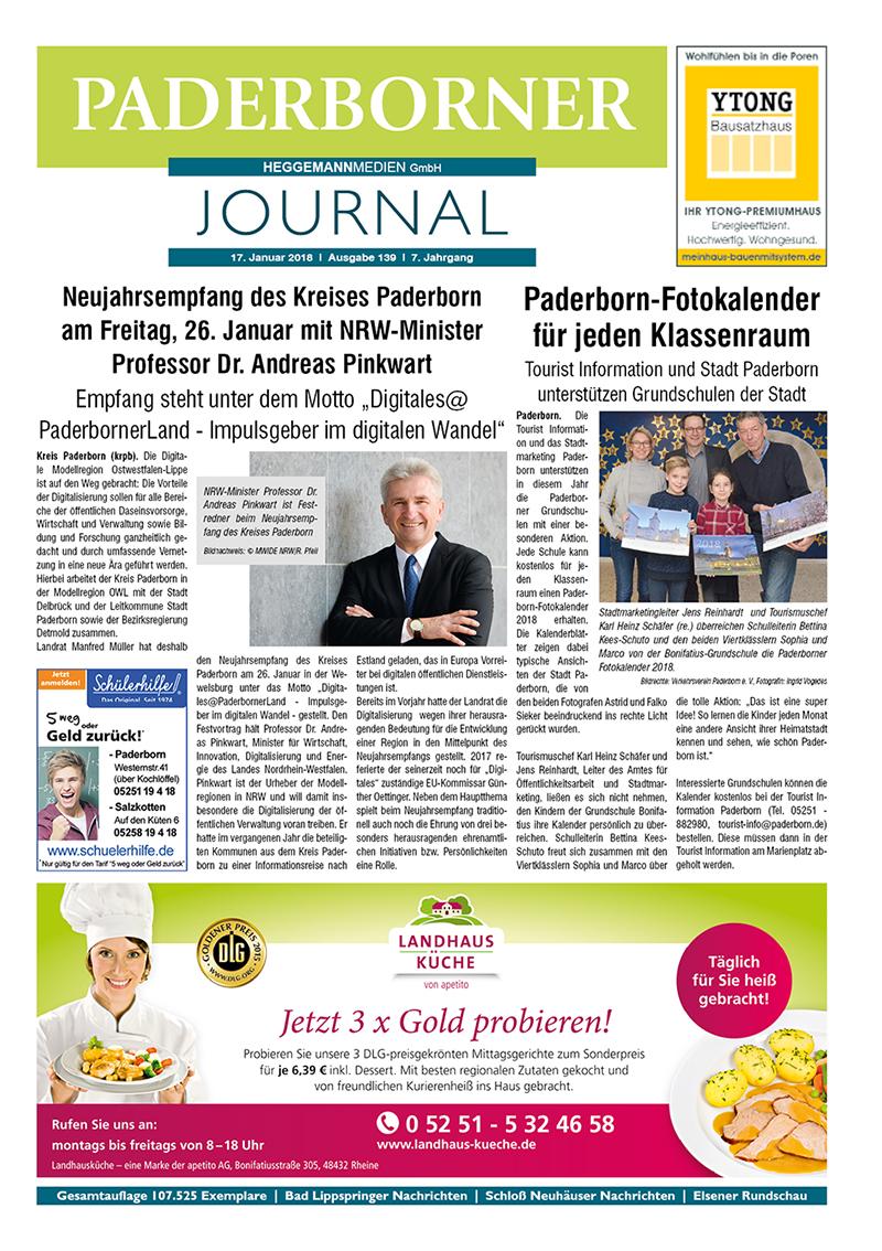 Paderborner Journal 139 vom 17.01.2018