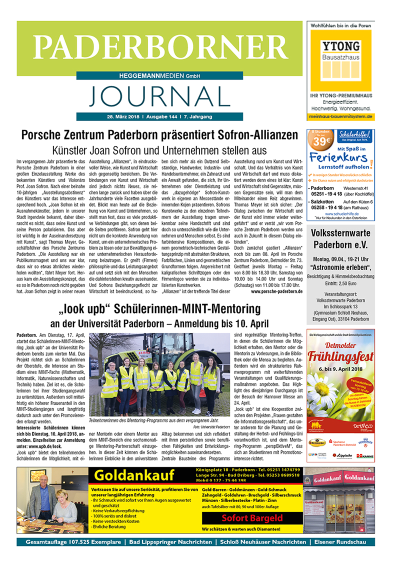 Paderborner Journal 144 vom 28.03.2018