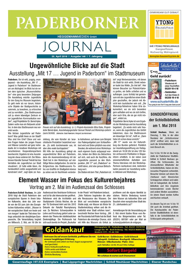 Paderborner Journal 146 vom 25.04.2018