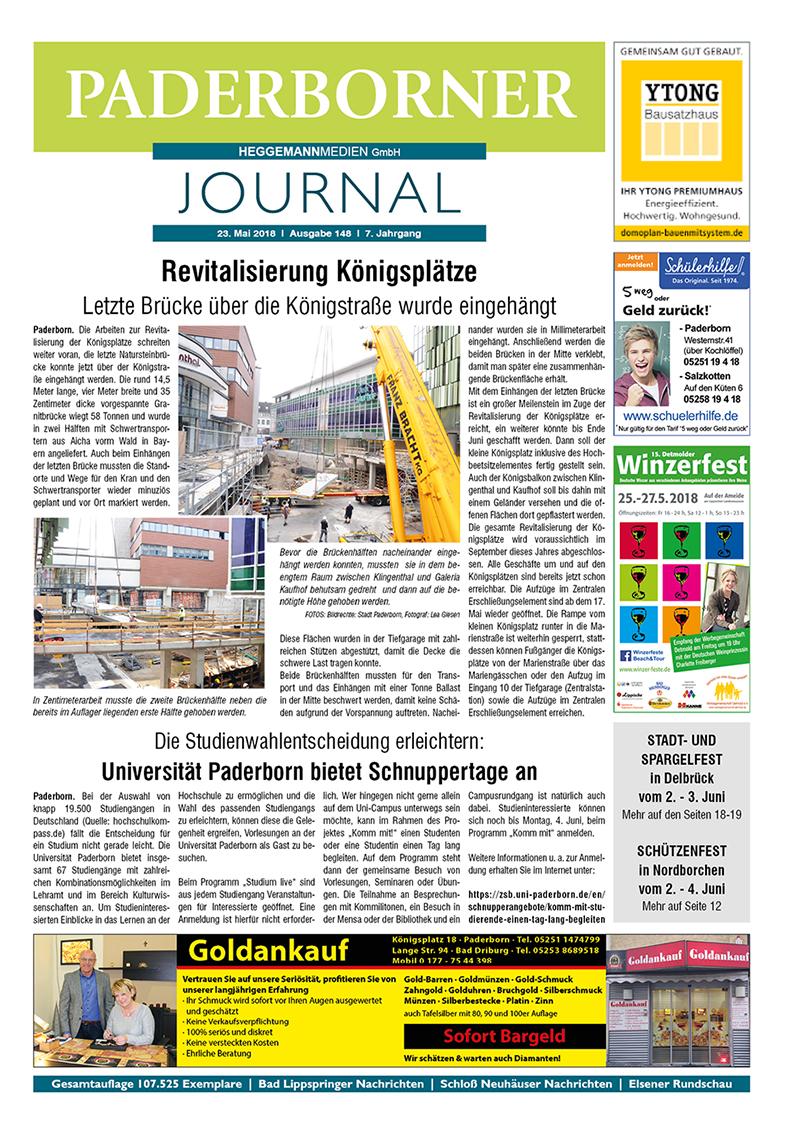 Paderborner Journal 148 vom 23.05.2018