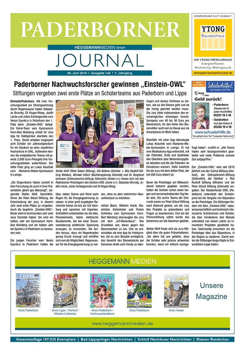 Paderborner Journal 149 vom 06.06.2018