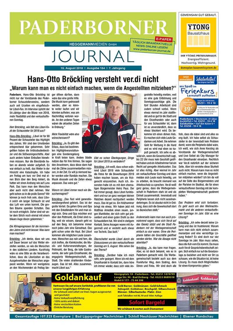 Paderborner Journal 154 vom 15.08.2018