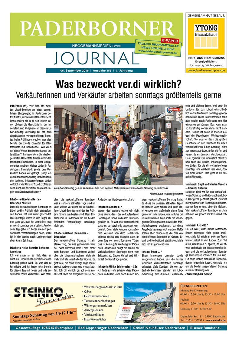 Paderborner Journal 155 vom 05.09.2018