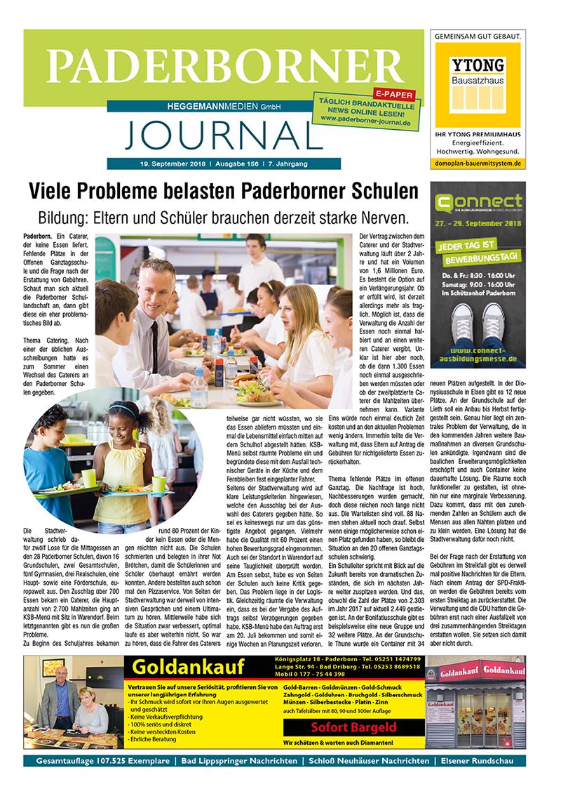 Paderborner Journal 156 vom 19.09.2018