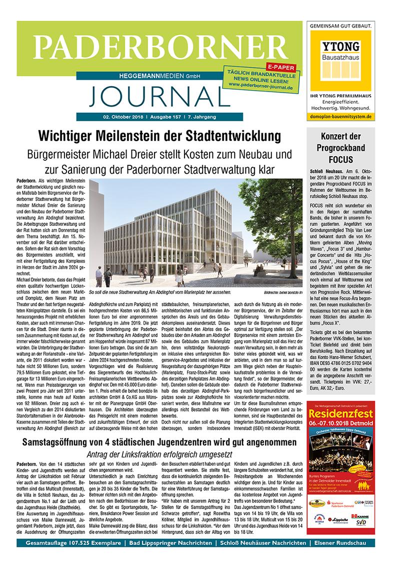 Paderborner Journal 157 vom 02.10.2018