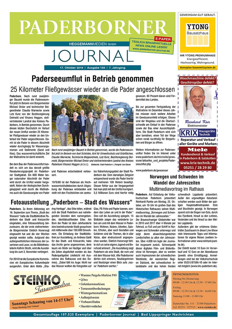 Paderborner Journal 158 vom 17.10.2018