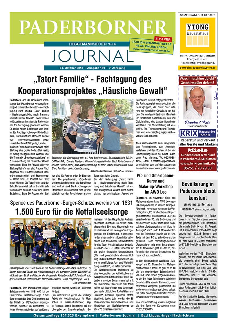 Paderborner Journal 159 vom 31.10.2018