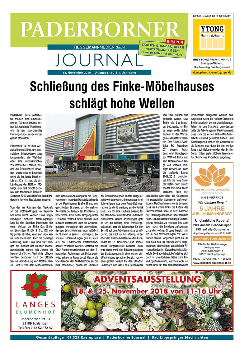 Paderborner Journal 160 vom 14.11.2018