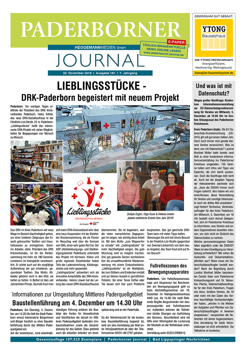 Paderborner Journal 161 vom 28.11.2018