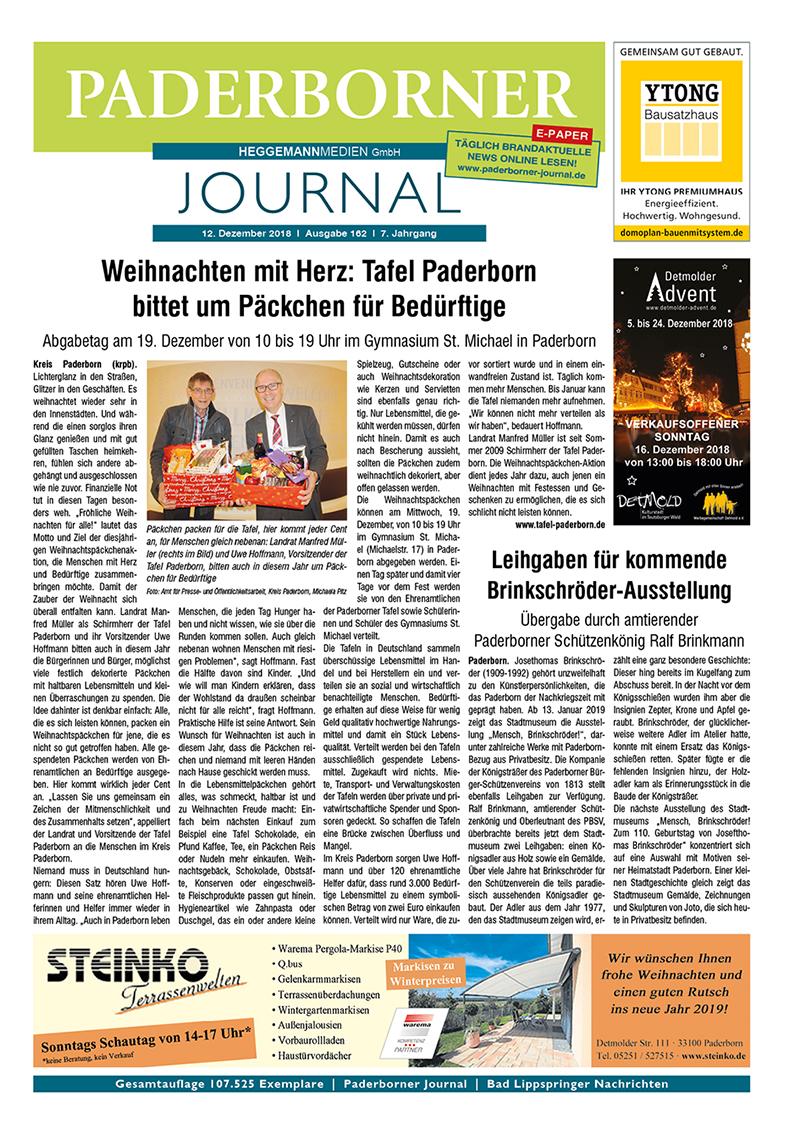 Paderborner Journal 162 vom 12.12.2018