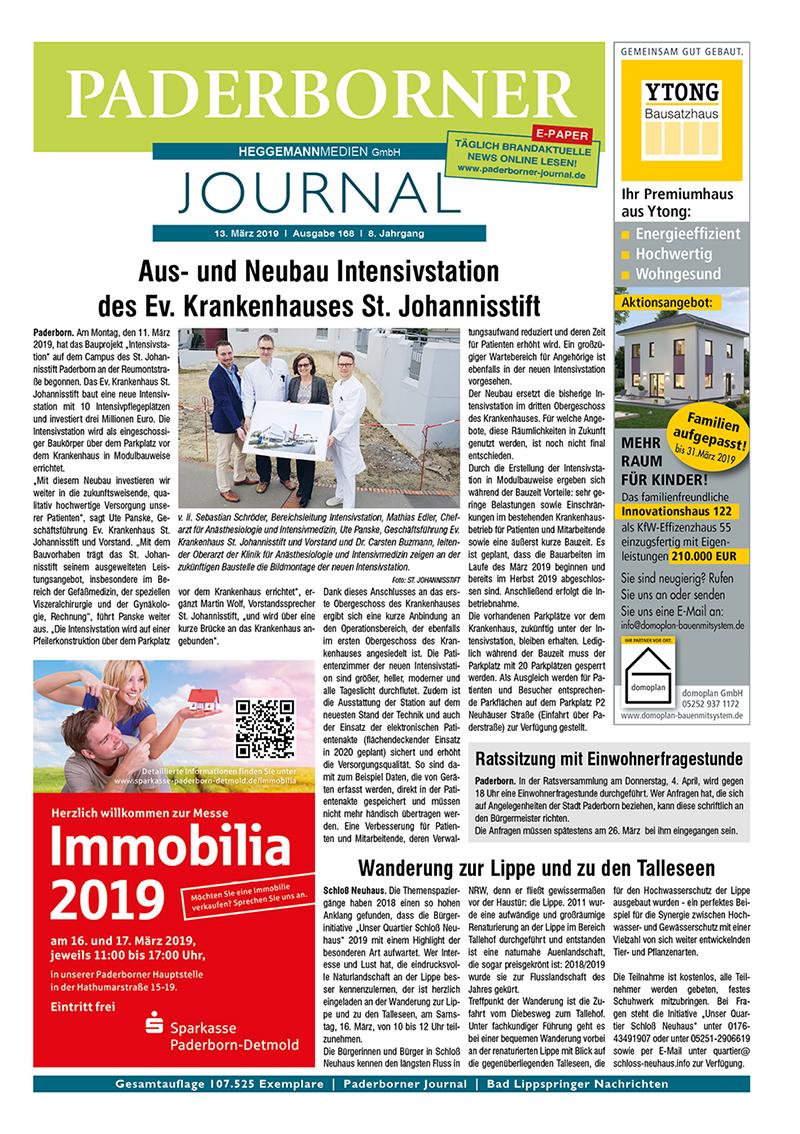 Paderborner Journal 168 vom 13.03.2019
