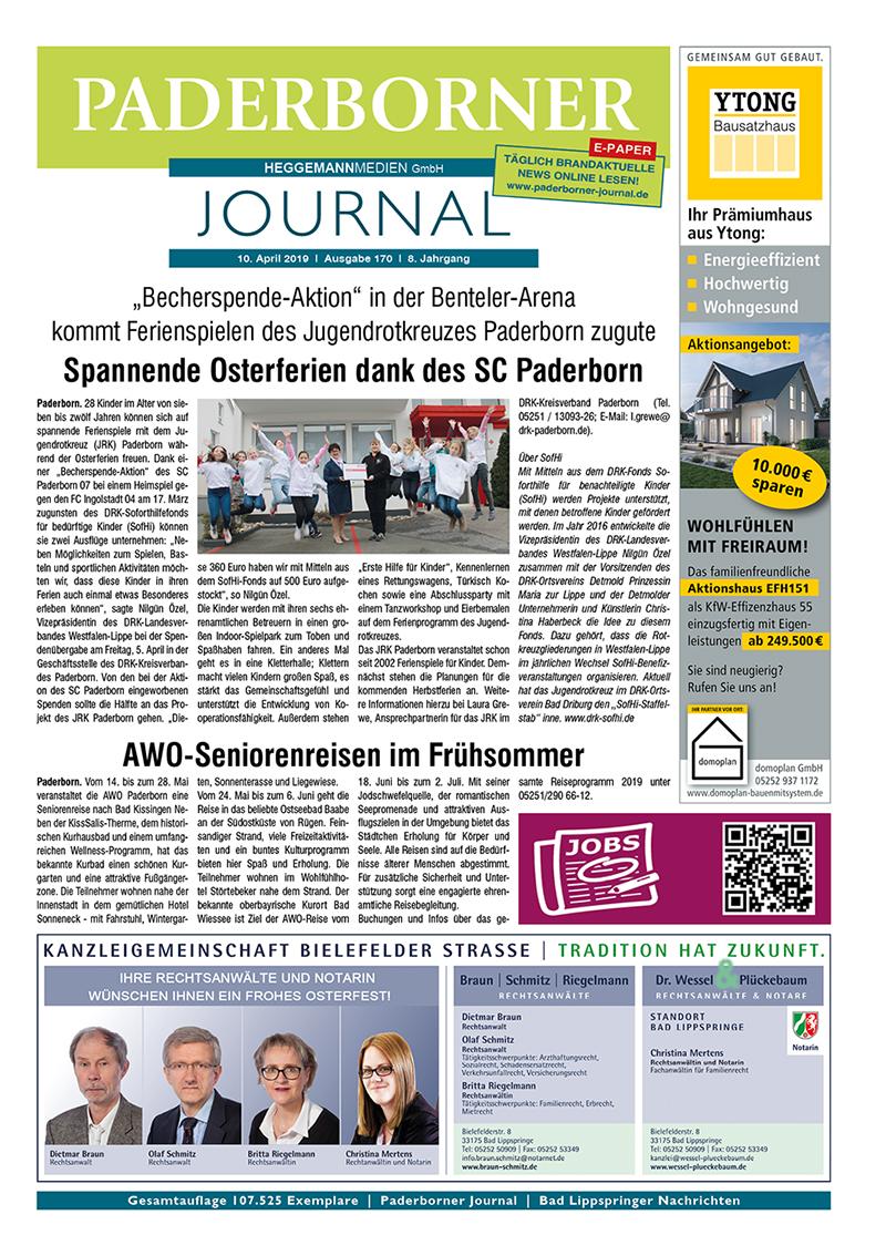 Paderborner Journal 170 vom 10.04.2019
