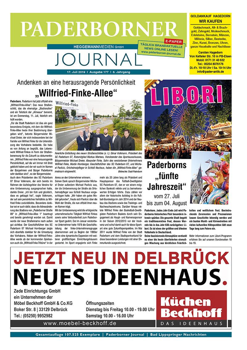 Paderborner Journal 177 vom 17.07.2019