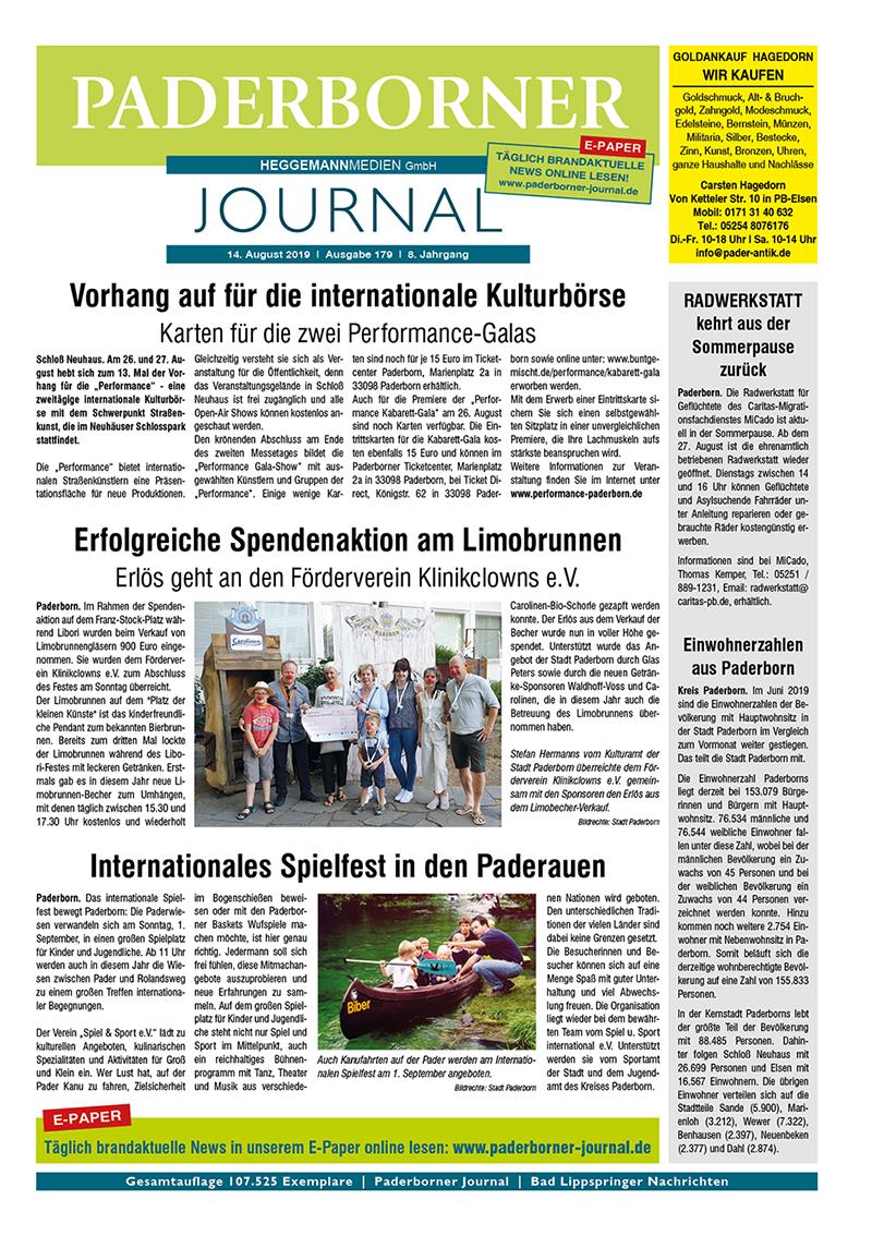 Paderborner Journal 179 vom 14.08.2019