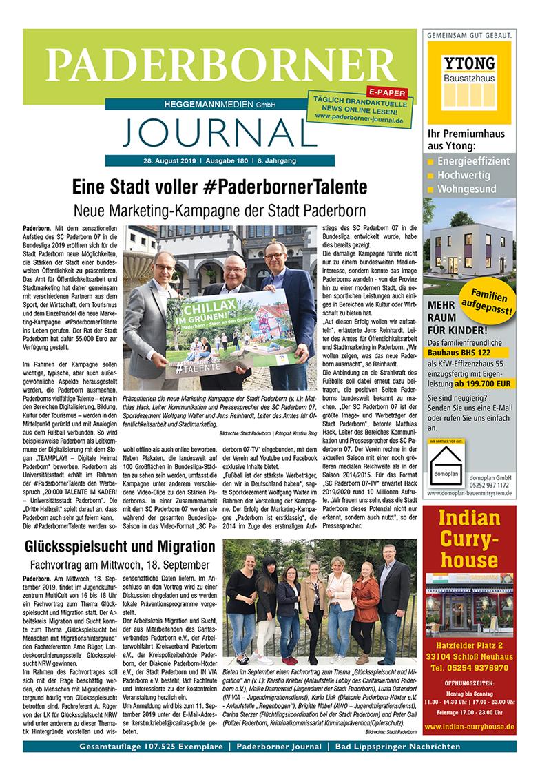Paderborner Journal 180 vom 28.08.2019
