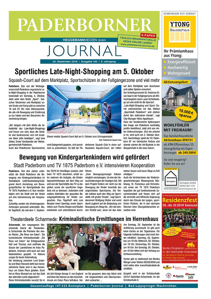 Paderborner Journal 182 vom 25.09.2019